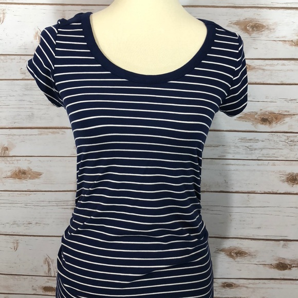 e8ce570db9b12 Liz Lange for Target Dresses   Skirts - Liz Lange Navy White Striped  Maternity Dress